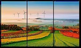 Модульная картина Interno Холст  Изумительные поля 104х58см (R1115M)