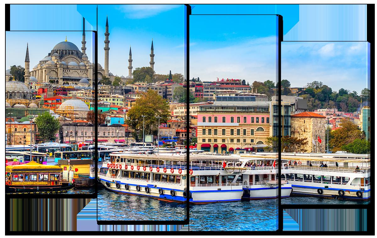 Модульная картина Interno Эко кожа Стамбул 114х69см (A1119М)