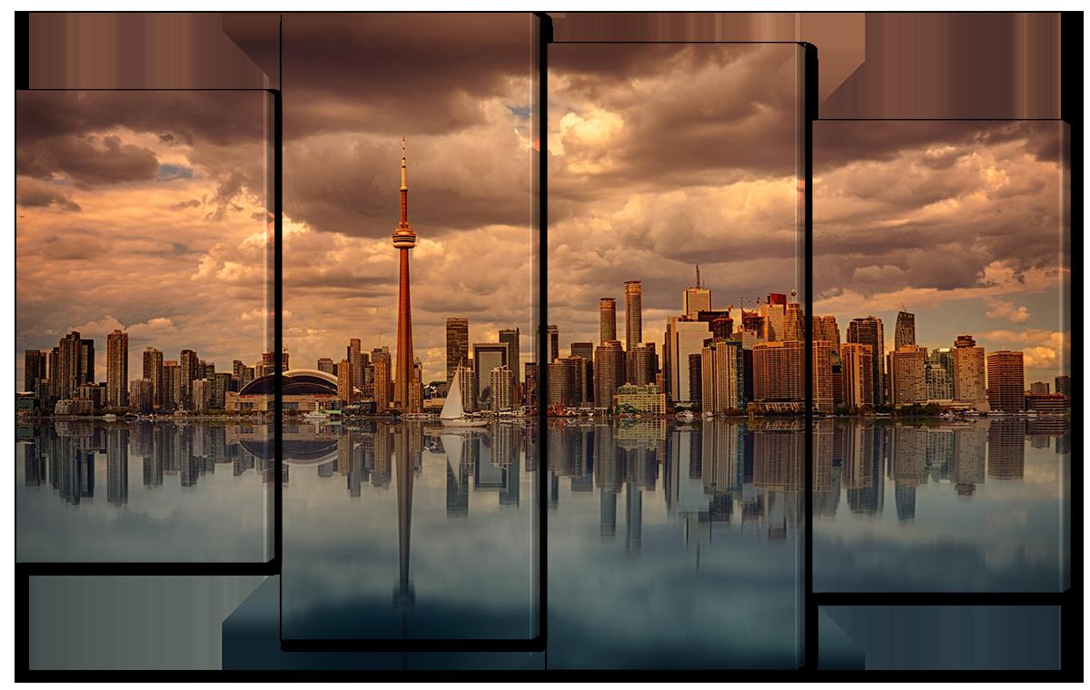 Модульная картина Interno Эко кожа Панорама Канады 114х69см (A1121М)