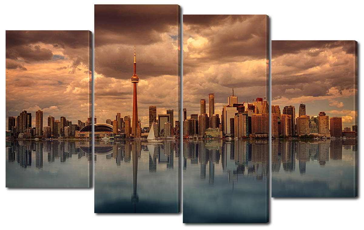 Модульная картина Interno Эко кожа Панорама Канады 140x89см (A1121XL)