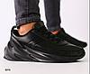 Кроссовки мужские черные с черными вставками из натуральной кожи