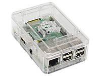 Кейс для міні-комп'ютера Raspberry Pi 3 B з вирізом для радіатора охолодження  Прозорий