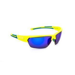Окуляри ONRIDE Spok неоново зелений/блакитний з лінзами BlueREVO/Clear/Orange