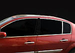 Верхняя окантовка стекол (6 шт, нерж) для Renault Megane II 2004-2009 гг.