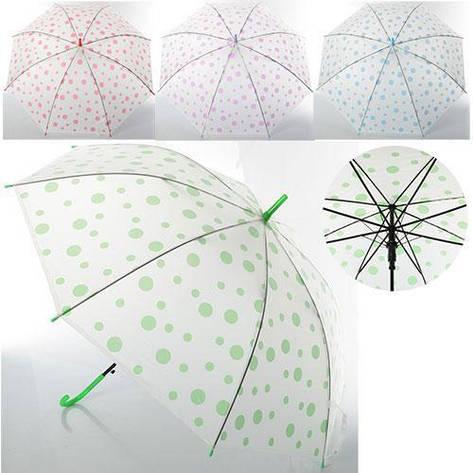 Зонт детский трость, разный цвета MK 0523, фото 2