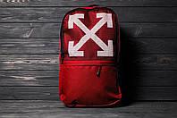 Красный Рюкзак мужской офф вайт, ОФФ-крестик, Off-white, реплика, фото 1
