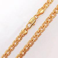 Цепочка Xuping Jewelry 50 см х 5,5 мм Ромб с насечками, медицинское золото, позолота 18К А/В 3905