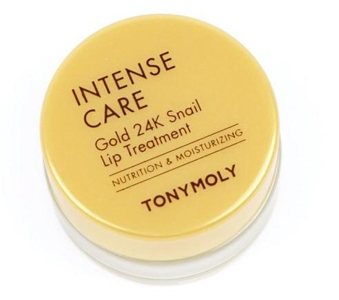 Акція -35% Улиточный солнцезащитный бальзам для губ Tony Moly Intense Care Gold 24K Snail Lip Treatment - 10 г
