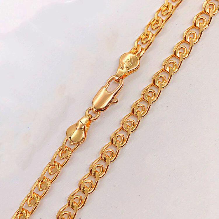 Цепочка Xuping 60 см х 4,5 мм Лав медицинское золото позолота 18К А/В 3-0049
