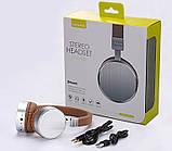 Беспроводные Bluetooth наушники USAMS LH001 Series Brown, фото 2