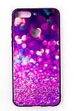 """Комплект панель FINE LINE """"Glam"""" для Huawei Y7 Prime 2018, фіолетовий калейдоскоп, Захисне скло для Huawei Y7, фото 2"""