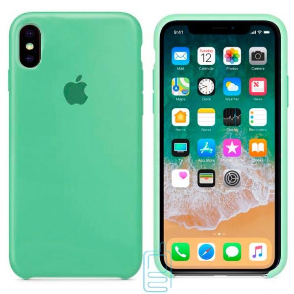 Чехол Silicone Case Apple iPhone X. XS салатовый 01