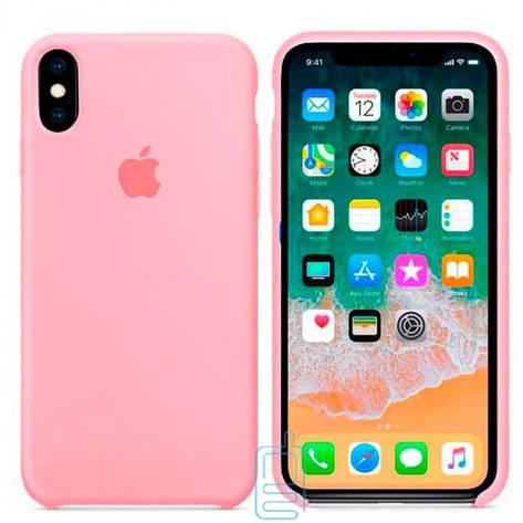 Чехол Silicone Case Apple iPhone X. XS розовый 06, фото 2
