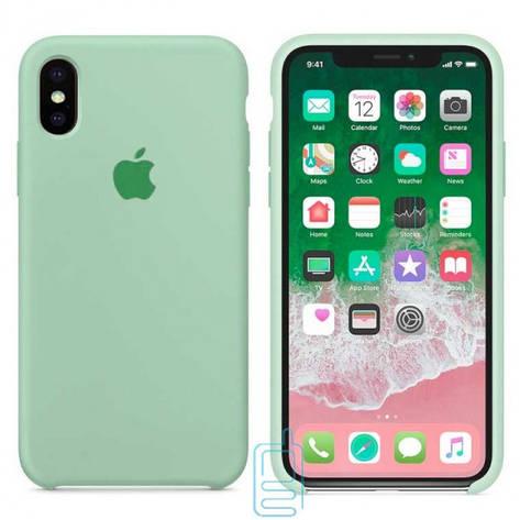 Чехол Silicone Case Apple iPhone X. XS светло-бирюзовый 17, фото 2