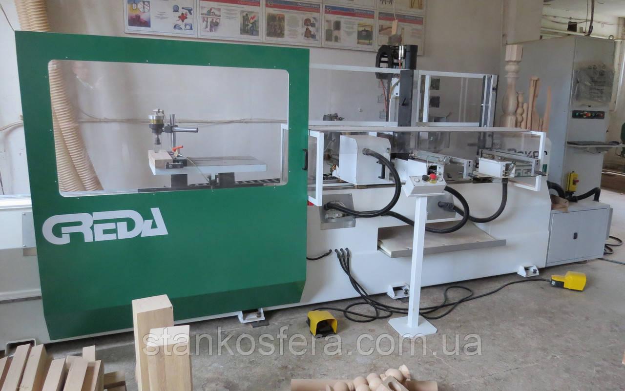 Обрабатывающий центр Greda Poker V3 бу для производства из дерева фигурных ножек стульев, столов, балясин