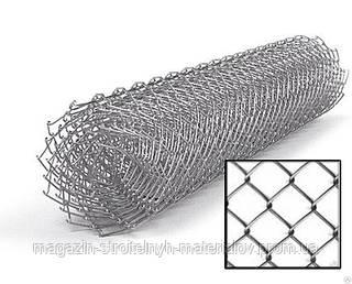 Сетка рабица оцинкованная высота 1 м размер ячейки 50 мм х 50 мм толщина проволоки 1,6 мм