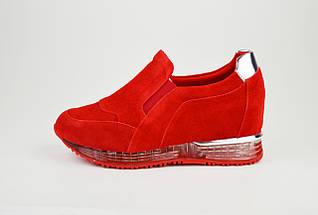 Слипоны женские замшевые красные Lonza 22-5, фото 2