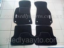 Ворсовые коврики в салон AUDI A4 с 2000-2007 гг. (Черные)