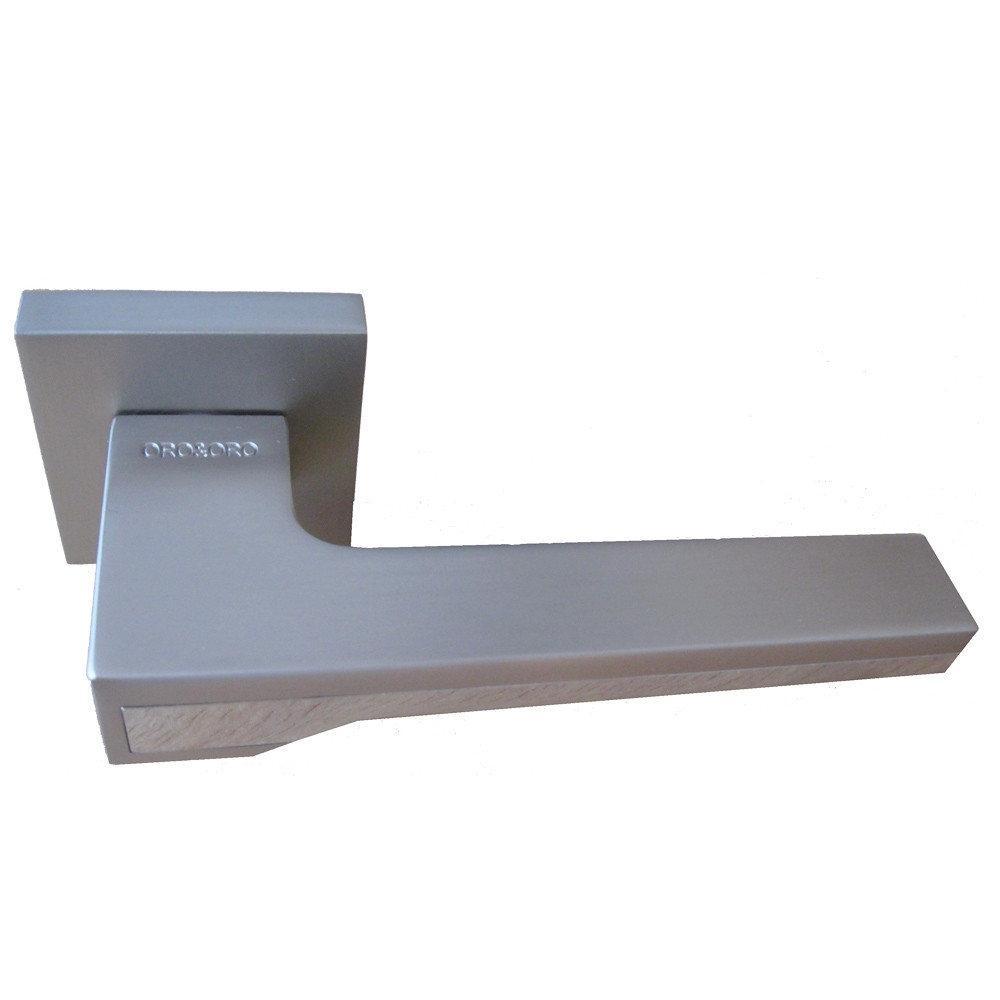 Ручки для дверей Oro&Oro 066-15E матовий нікель/ Хром