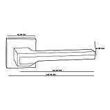 Ручки для дверей Oro&Oro 066-15E Черный матовий/ Хром, фото 2