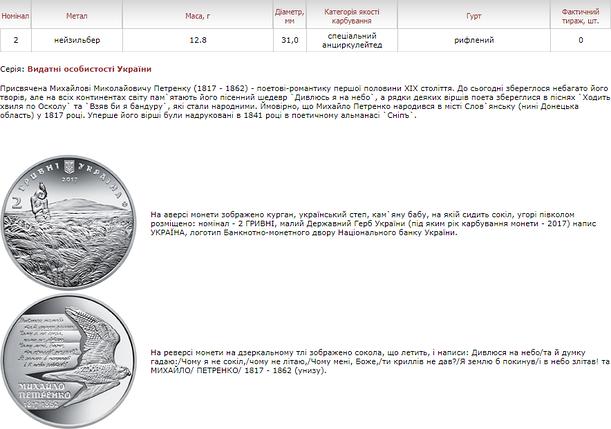 Михайло Петренко монета 2 гривні, фото 2
