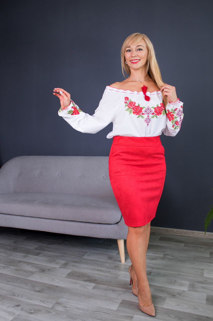 Молодежная Юбка Бритни красна