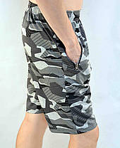 Шорты мужские камуфляжные с шевроном и молниями на карманах М - 4XL, фото 2