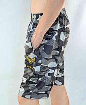 Шорты мужские камуфляжные с шевроном и молниями на карманах М - 4XL, фото 3