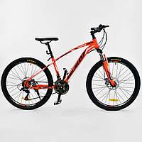 Велосипед Corso Airstream спортивный 26 дюймов рама металлическая, 21 скорость, рама 17 собран на 75%
