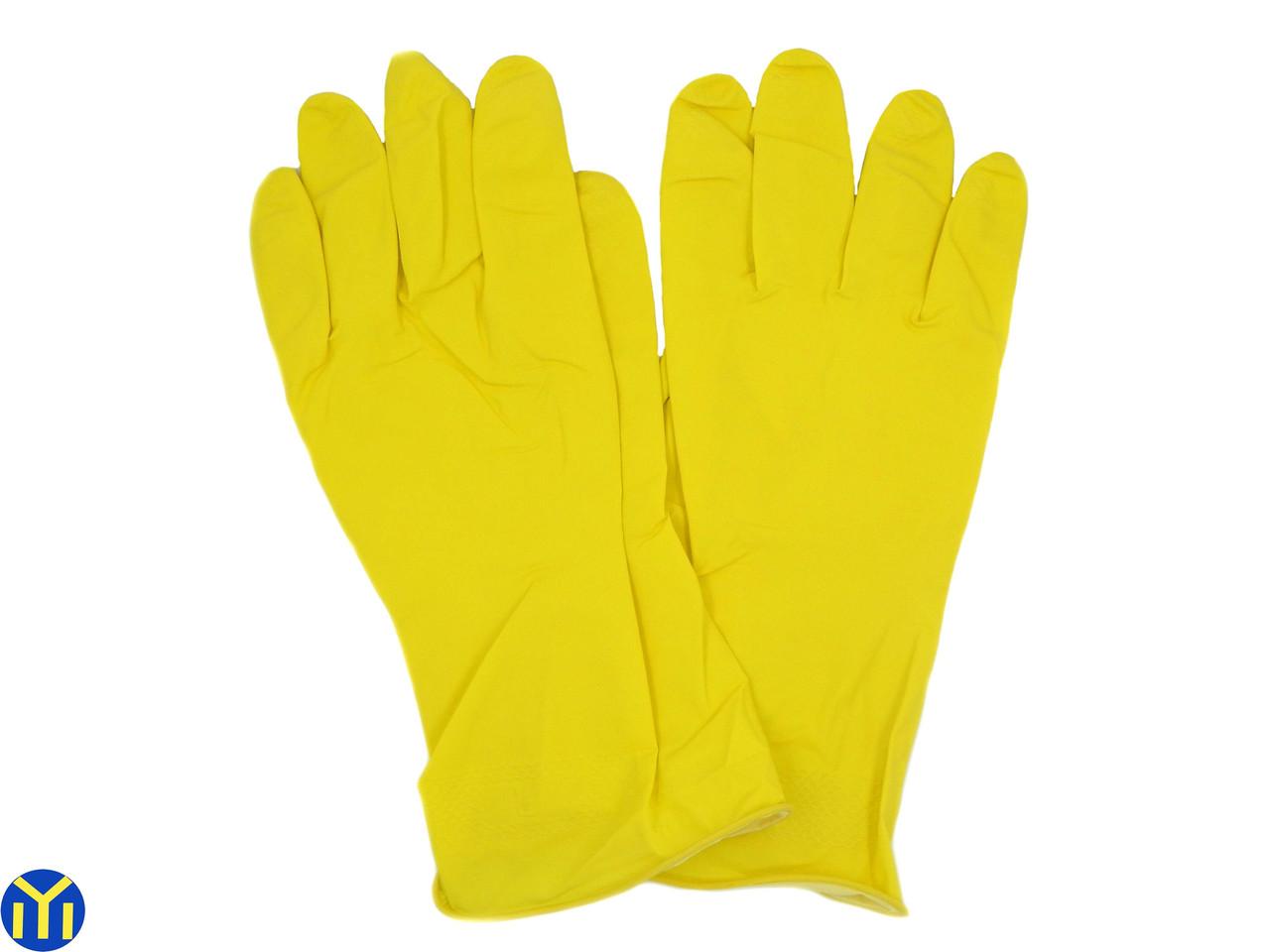 Перчатки хозяйственные резиновые латексные Household Gloves 1уп. 12 пар