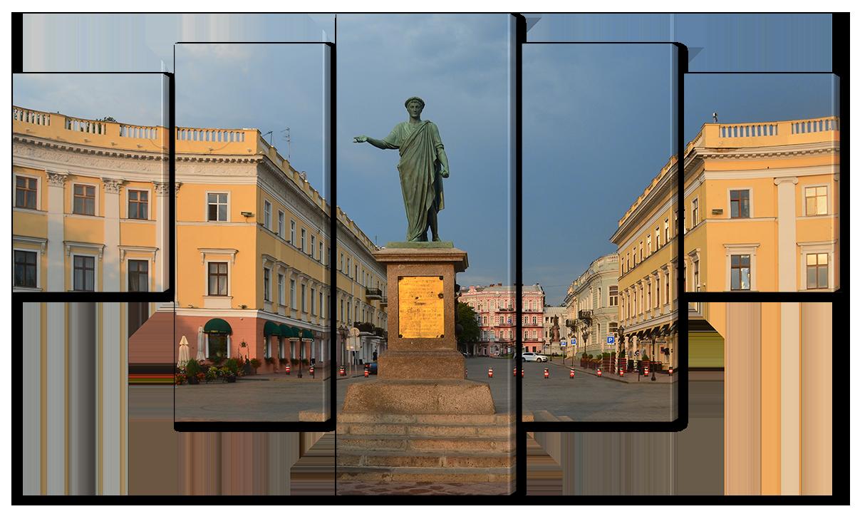 Модульная картина Interno Холст Памятник Дюку де Ришелье142х80см (R1127L)