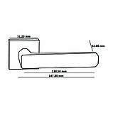 Ручки дверные Oro&Oro 108СR-15E Матовый никель, фото 2