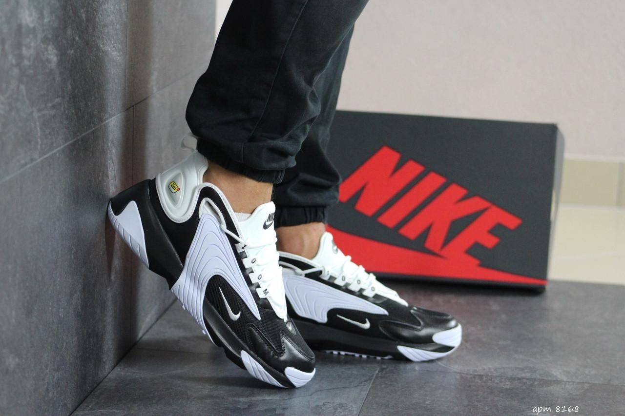 Мужские демисезонные кроссовки Nike Zoom 2K,белые с черным