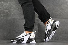 Мужские демисезонные кроссовки Nike Zoom 2K,белые с черным, фото 3
