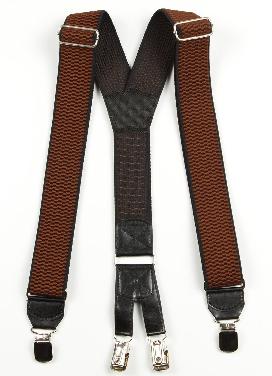 Подтяжки мужские унисекс широкие однотонные York Y40 Top Gal коричневые цвета в ассортименте
