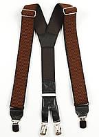 Подтяжки мужские унисекс широкие однотонные York Y40 Top Gal коричневые цвета в ассортименте, фото 1