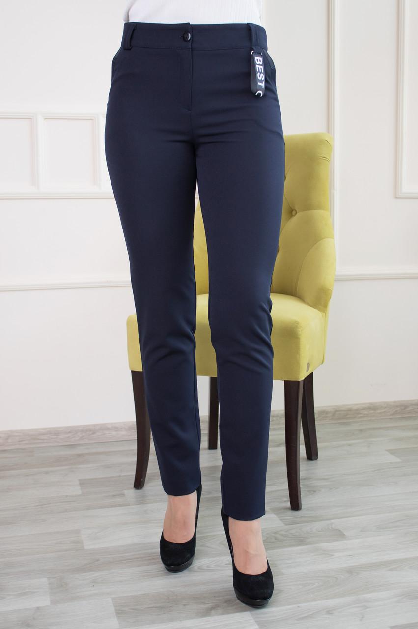 Молодежные брюки Перис синего цвета