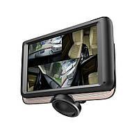 """🔥 Автомобильный видеорегистратор DVR К-8 """"Рыбий Глаз"""" 360°.DVR K8 360° + камера заднего вида, сенсорный экран."""