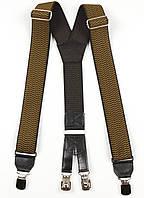 Подтяжки мужские унисекс широкие однотонные York Y40 Top Gal хаки цвета в ассортименте, фото 1