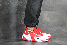 Мужские демисезонные кроссовки Nike Zoom 2K,белые с красным, фото 2
