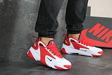 Мужские демисезонные кроссовки Nike Zoom 2K,белые с красным, фото 3