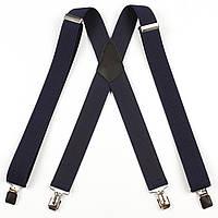 Подтяжки мужские унисекс средние однотонные X35 Top Gal синие цвета в ассортименте, фото 1