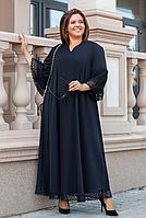 Длинное платье расклешенное большого размера, с 48-58 размер, фото 1