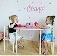 """Детский стол и стульчик. Набор  детской мебели «Розовый"""""""