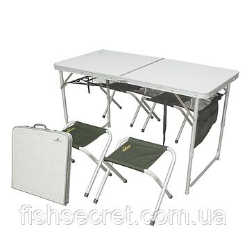 Стол GC в комплекте (4 стульчика)