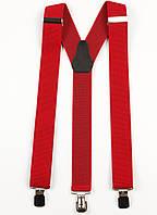 Подтяжки мужские унисекс средние Y35 Top Gal красные однотонные красные цвета в ассортименте, фото 1