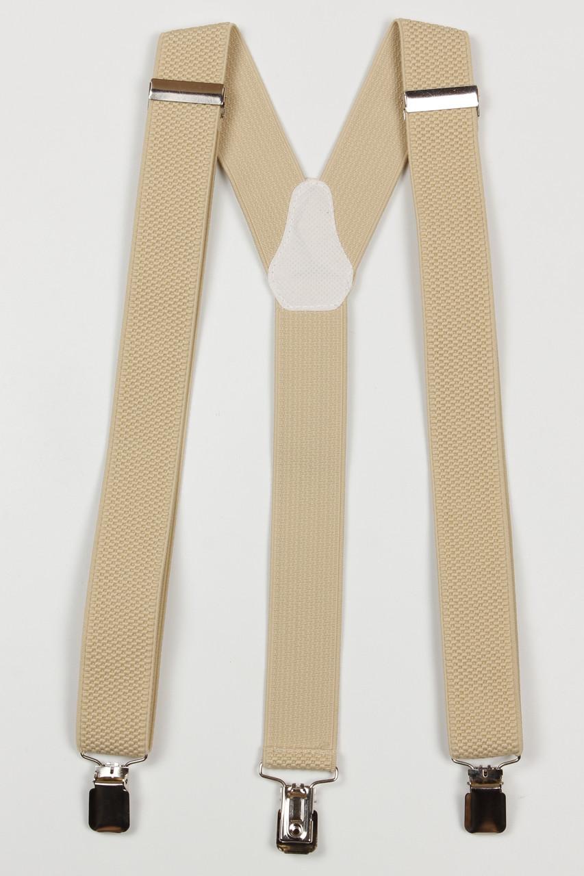Подтяжки мужские унисекс средние Y35 Top Gal светло-бежевые однотонные цвета в ассортименте