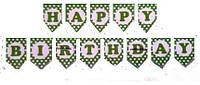 Гирлянда-Буквы Happy birthday салатовая