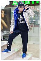 Детская стильная блестящая двухсторонняя куртка девочка-мальчик  ев1868
