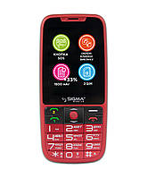 Телефон Sigma mobile Comfort 50 Slim 2 (1000mAh) red